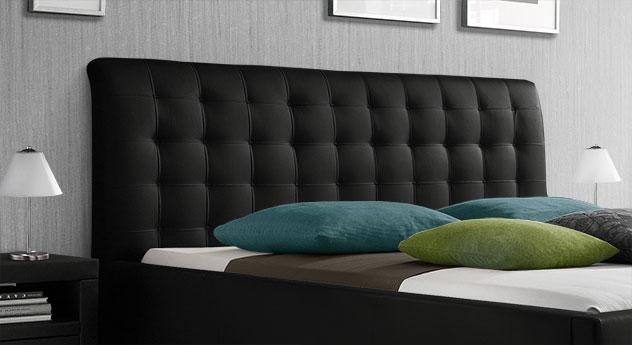 Polsterbett Baskerville Comfort mit hochwertiger Kopfteil-Steppung