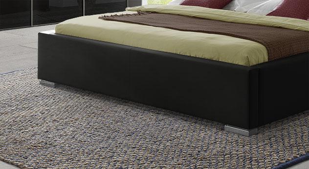 Polsterbett Firenze Comfort mit Block-Füßen aus Chrom