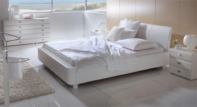 Bett Harmony elegant weiß