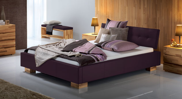Polster Bett Larry in Violett