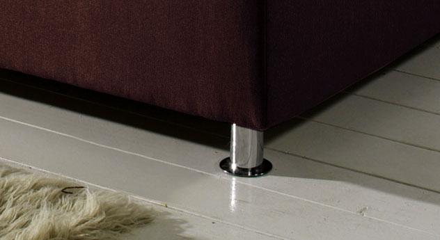 Bett Modica Bettbeine Füße verchromt