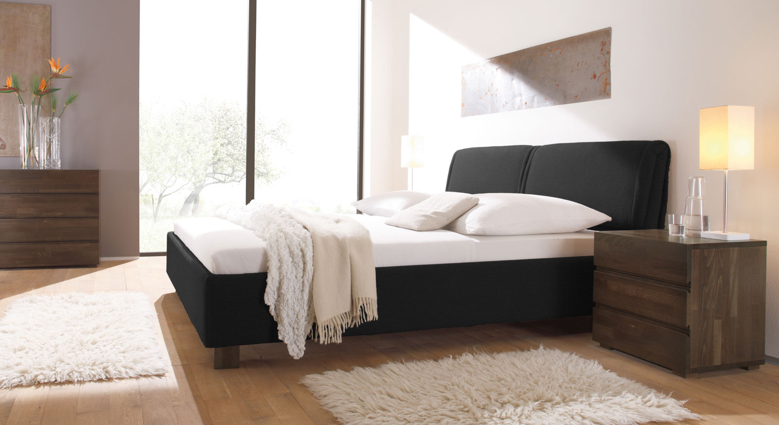 m belfreude boxspringbett bea gesteppt 7 zonen taschenfederkern visco topper polsterbett. Black Bedroom Furniture Sets. Home Design Ideas