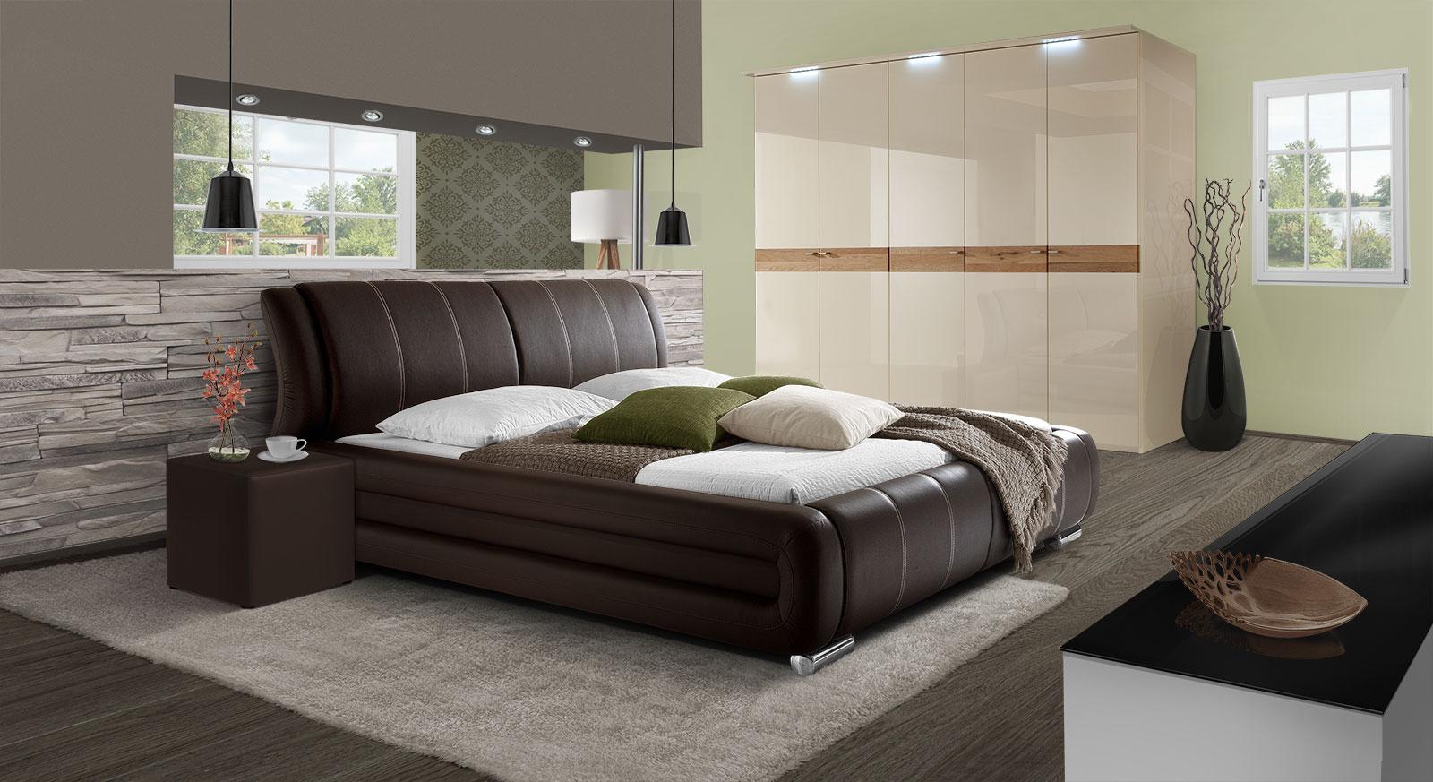 kunstlederbett in braun schwarz oder wei petersfield