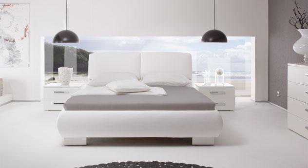 Das Polsterbett Pilat in Weiß
