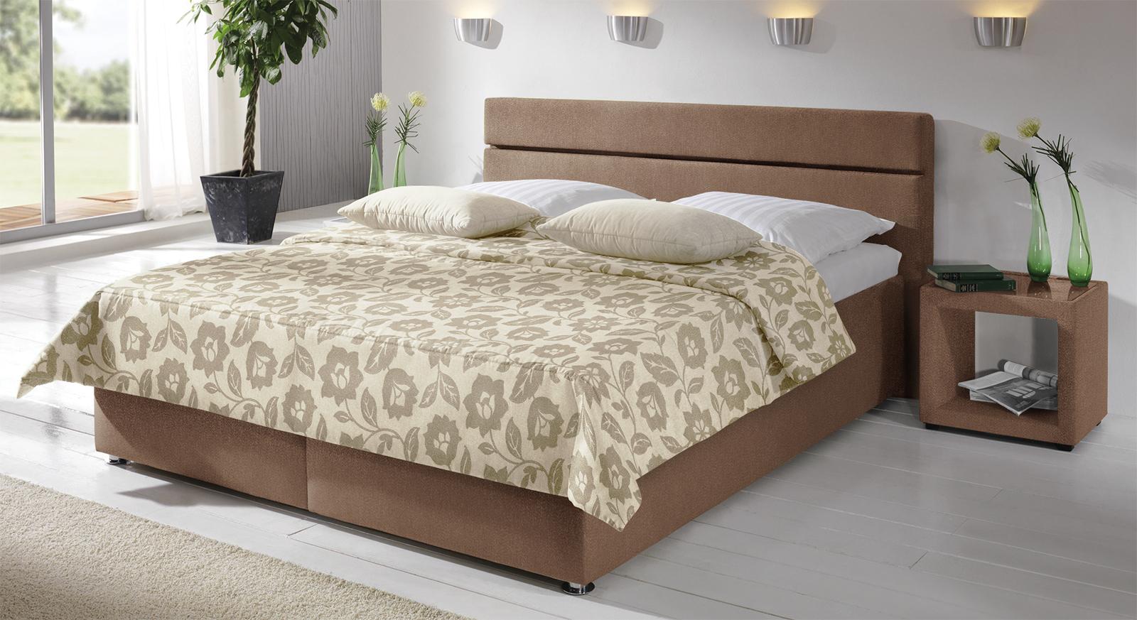 polsterbett severo hochwertig beige und in bergr en. Black Bedroom Furniture Sets. Home Design Ideas