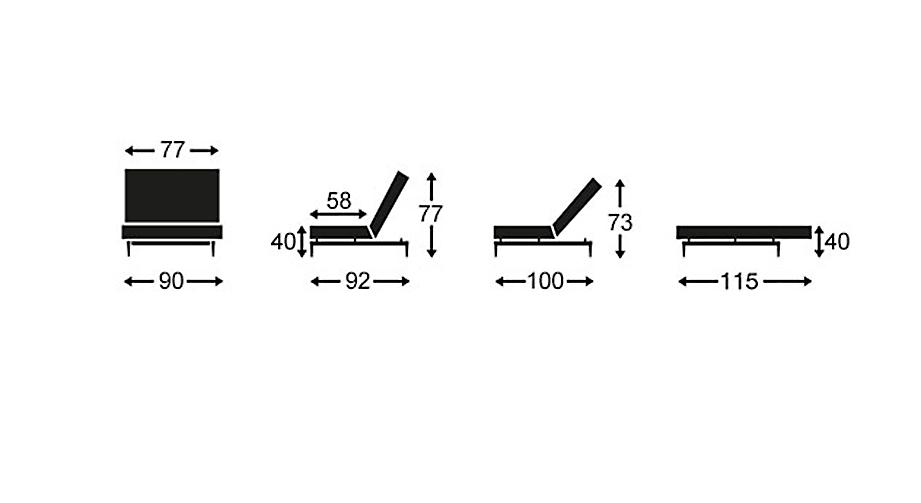 Grafik zu den Positionen des Sessels Norton