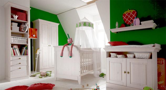Regal Babys Paradise aus Holz in Weiß