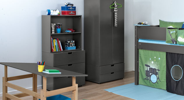 kinderregal z b in wei in verschiedenen gr en kids town. Black Bedroom Furniture Sets. Home Design Ideas