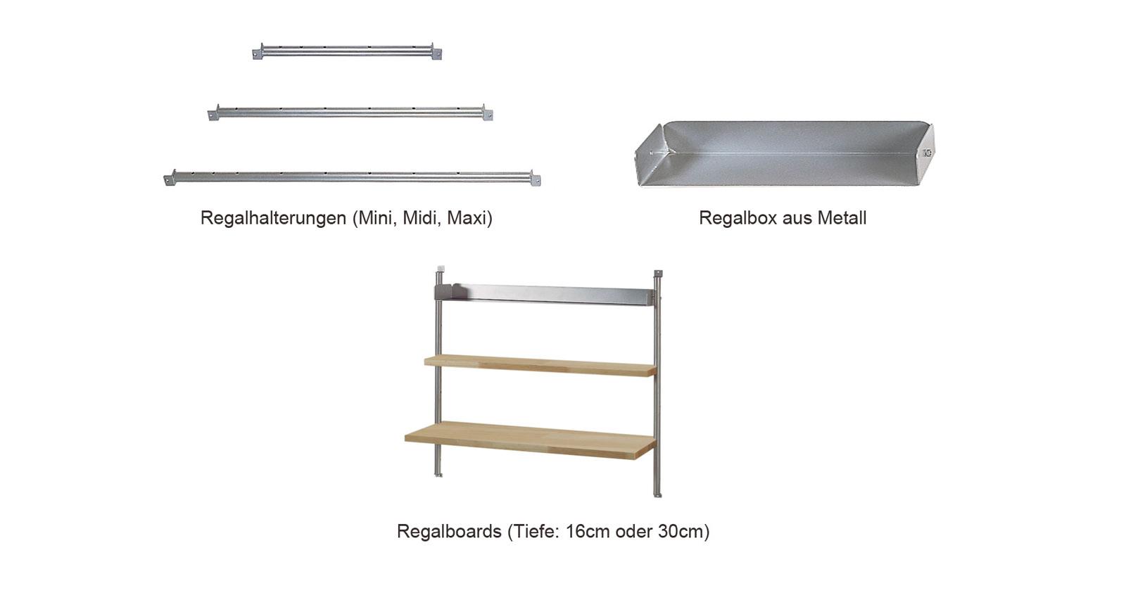 Regalsystem Bastian Komponenten