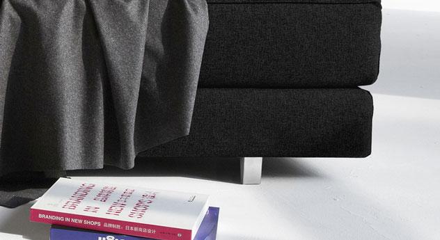 Relaxliege Swidown mit modernen Aluminiumfüßen