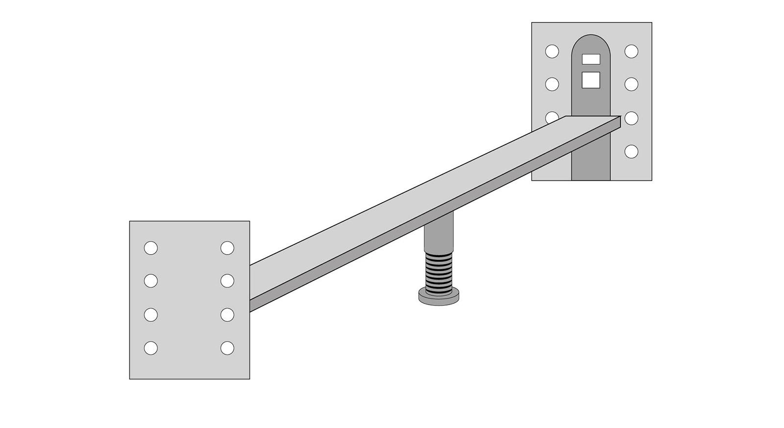 Verbindungsbeschlag Runcorn für Einzelbett mit Standfuß