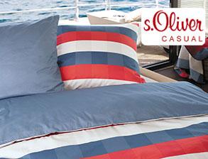 moderne s oliver bettw sche rot blau kariert. Black Bedroom Furniture Sets. Home Design Ideas