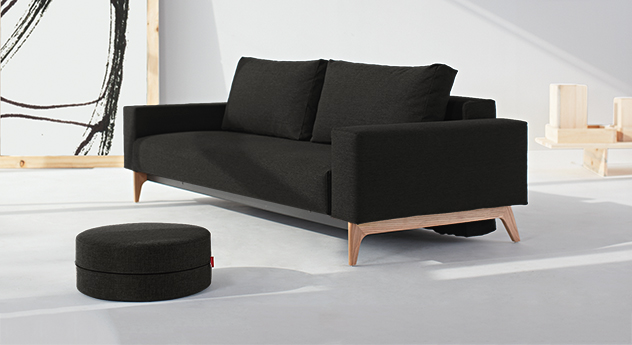 designer schlafsofa mit federkern und bettkastentuch derby. Black Bedroom Furniture Sets. Home Design Ideas