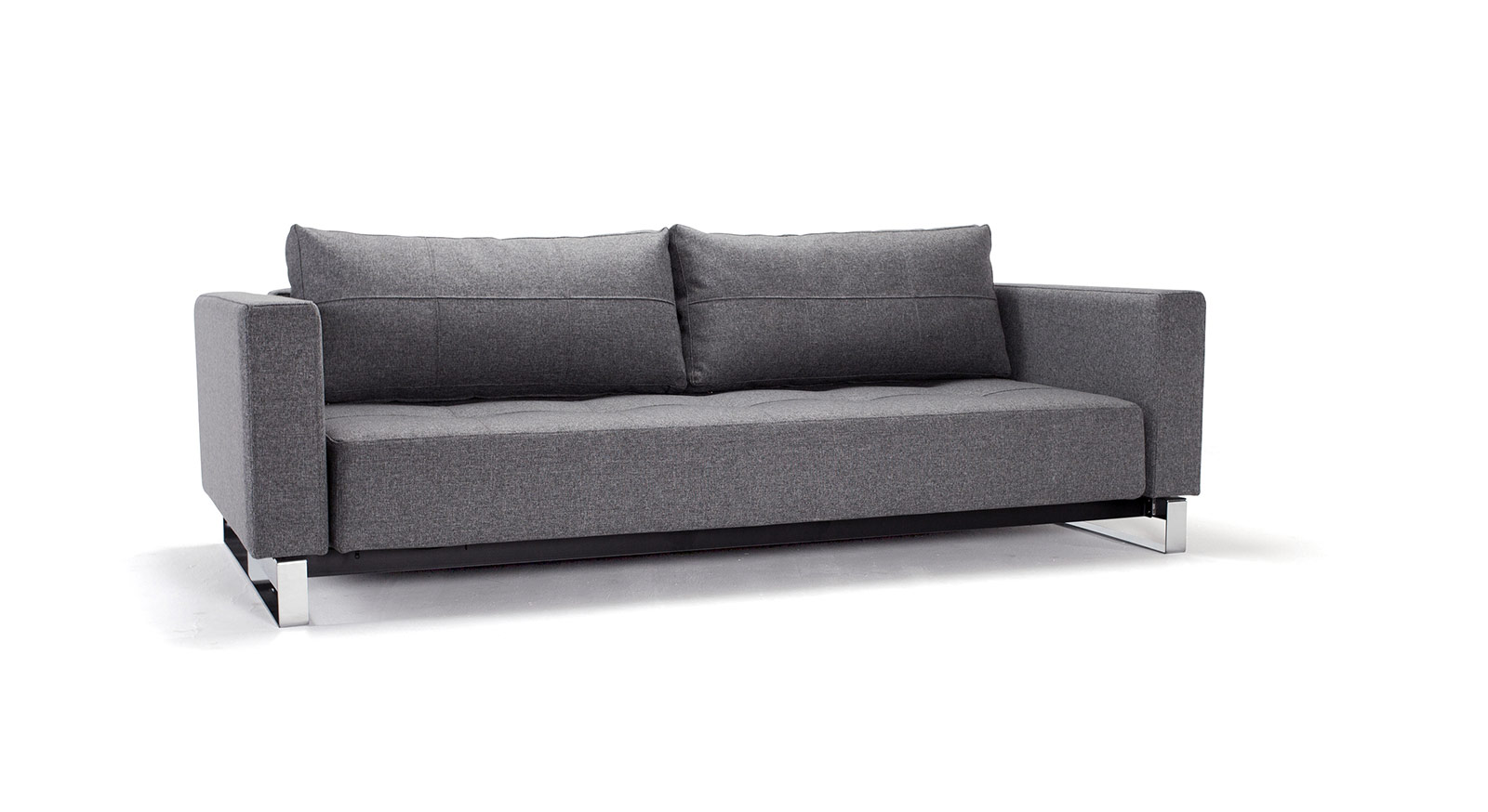 schlafsofa mit federkern in grau kaufen wilshere. Black Bedroom Furniture Sets. Home Design Ideas