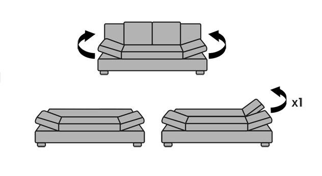 Schlafsofa Blue-River mit praktischen Funktionen