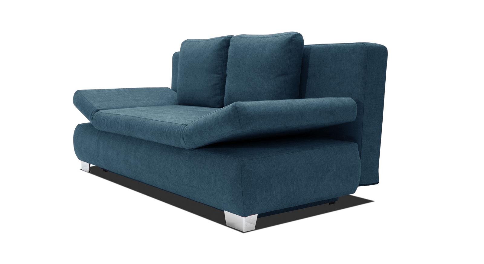 das schlafsofa blue river mit verchromten f en hier mit starrem. Black Bedroom Furniture Sets. Home Design Ideas