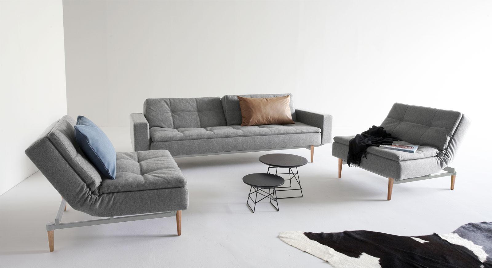 Schlafsofa und Sessel Carol in anspruchvollem Design