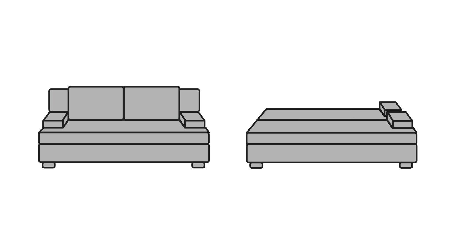 Schlafsofa Hill-Brook mit einfacher Umwandlung zum Doppelbett
