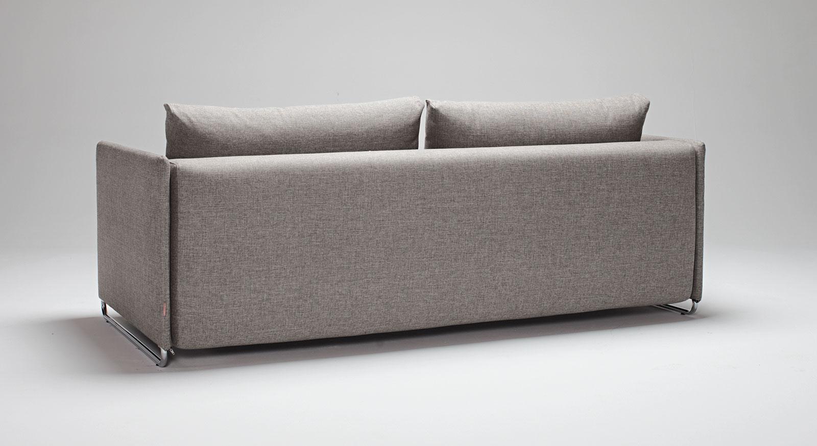Rückansicht des Schlafsofa Holywell in Grau