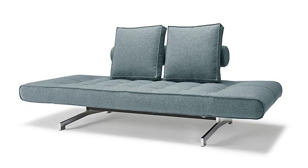 Umbaubares Schlafsofa Lampard zum Bett mit hochwertigem Webstoff