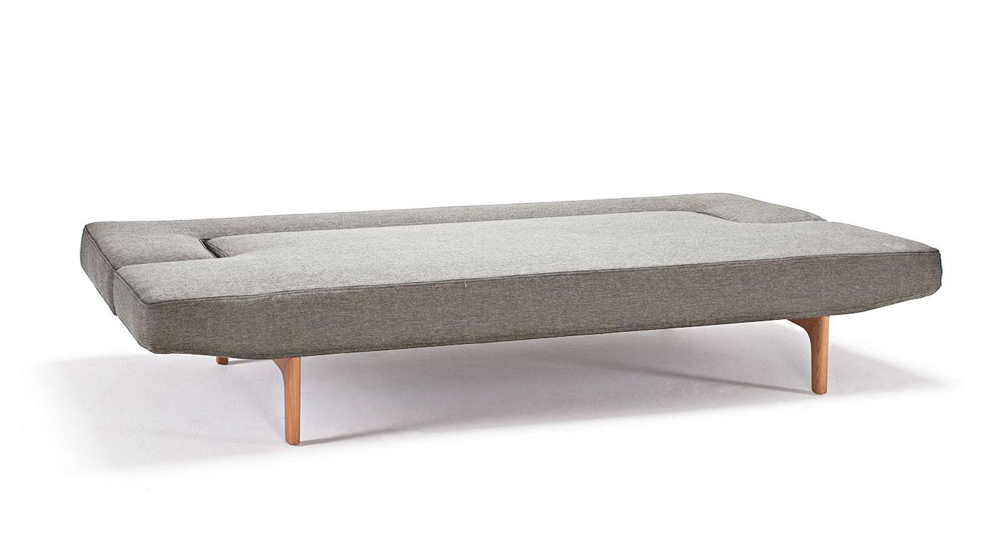 Hochwertiges, graubraunes Schlafsofa Littlemore in bequemer Liege-Position