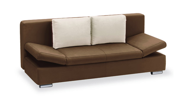 Schlafsofa Moon Bay Microvelours braun