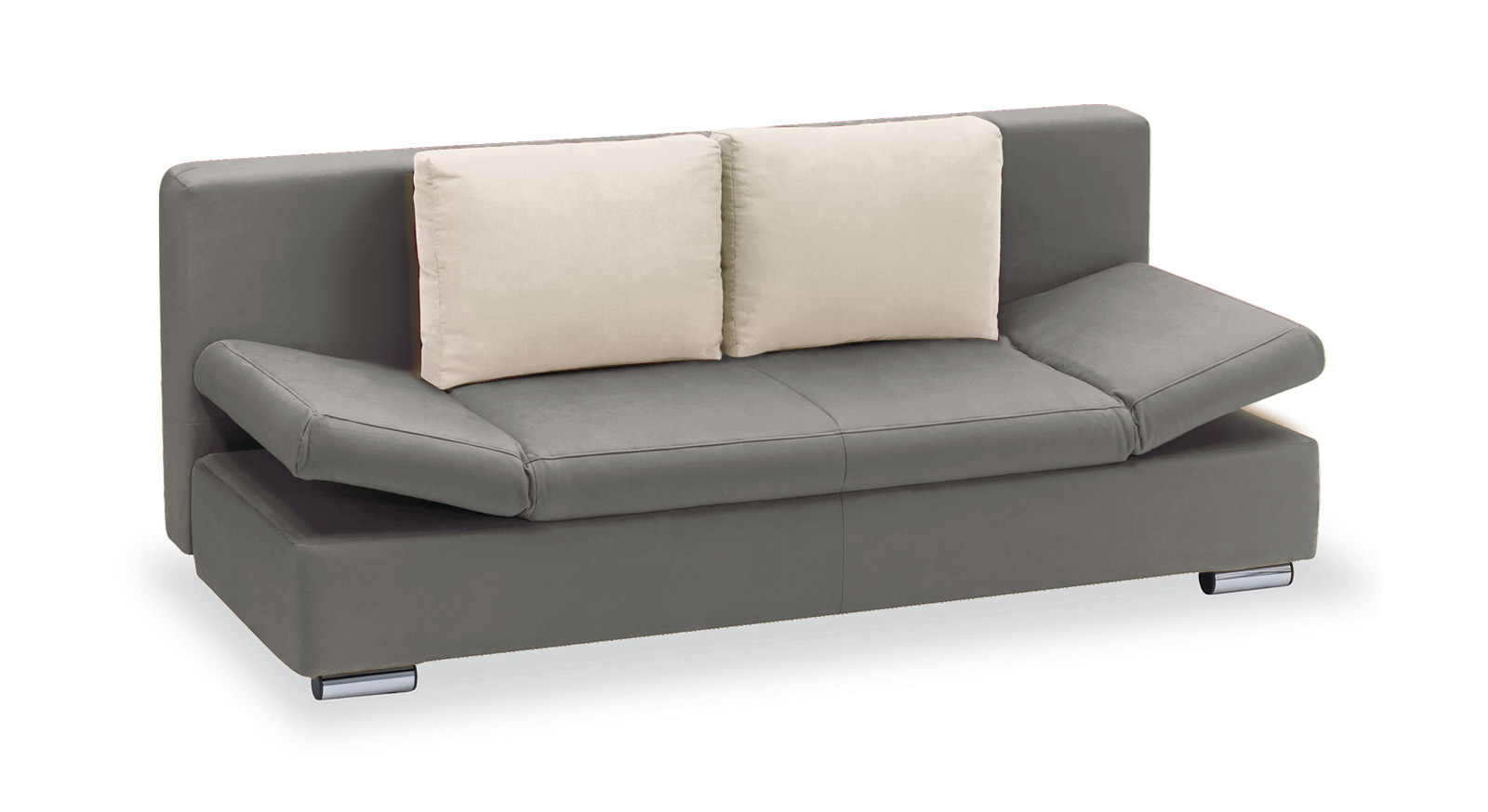 Schlafsofa Moon Bay Microvelours grau