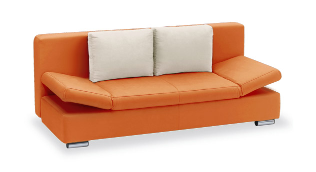 Schlafsofa Moon Bay Microvelours orange