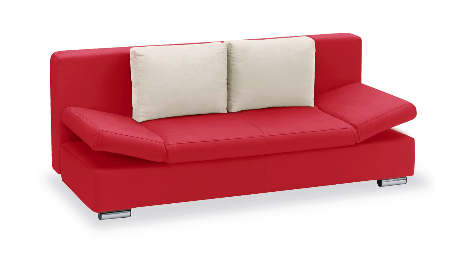 Schlafsofa Moon Bay Microvelours rot