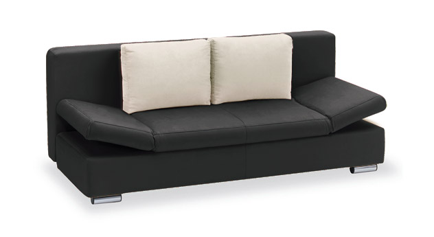 Schlafsofa Moon Bay Microvelours schwarz