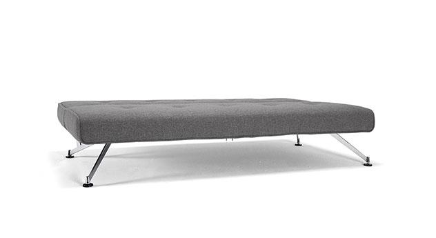 Modernes Design-Schlafsofa Norton in dunkelgrau mit Chromfüßen