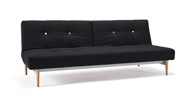 design-schlafsofa im stil der 60er mit geteilter lehne - torey, Hause deko