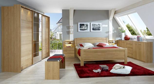 Schlafzimmer Quebo aus Eiche mit dazu passenden Produkten
