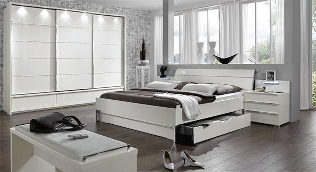 Schlafzimmer Salford in weißem Dekor mit passenden Produkten