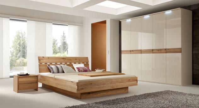 Schlafzimmer  Modernes Komplett-Schlafzimmer mit edlem Holzbett -Stuart