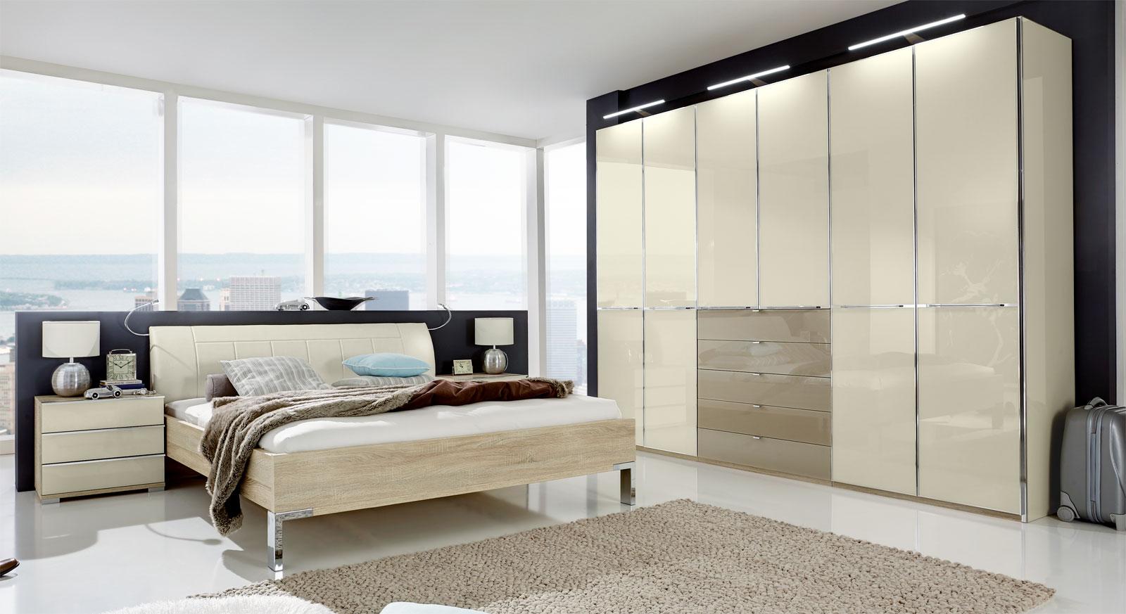 Schlafzimmer banga mit modernem material mix