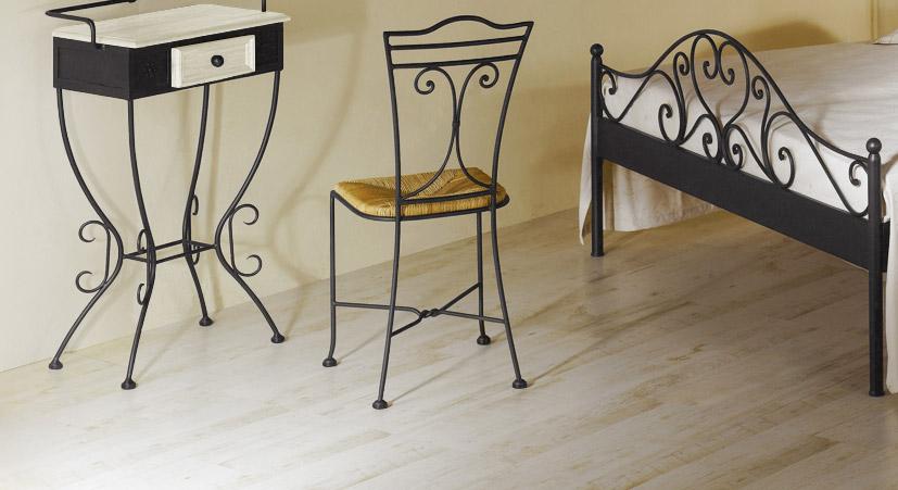 Metallschminktisch Loria mit optionalem Stuhl
