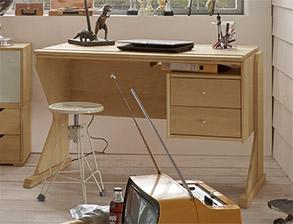 Jugendzimmer aus nat rlich ge ltem buchenholz massiv for Buchenholz schreibtisch