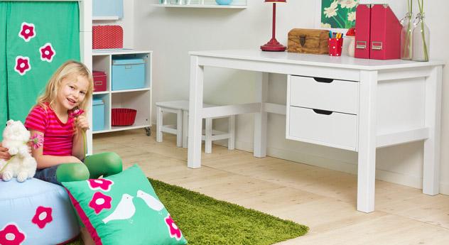 Schreibtisch Kids Heaven optional mit zwei Schubladen