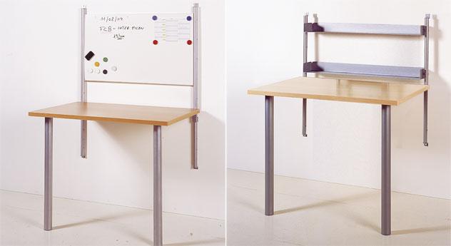 Schreibtisch Kim mit Magnetboard und Regale