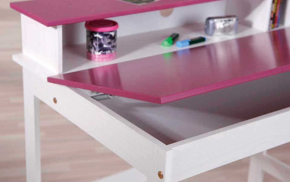 Schreibtisch Mina mit Stauraum in dem Ablagefach