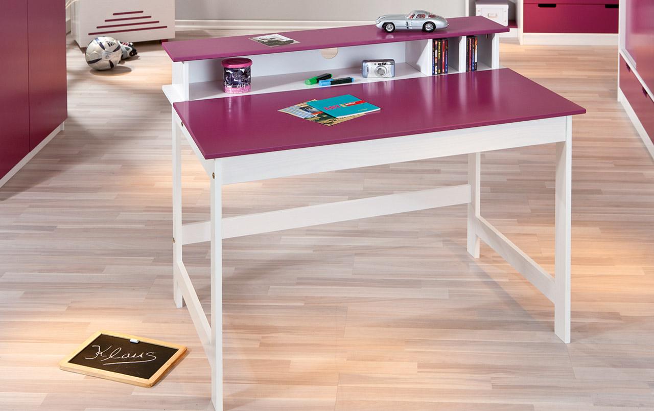 Schreibtisch Mina Weiß Violett
