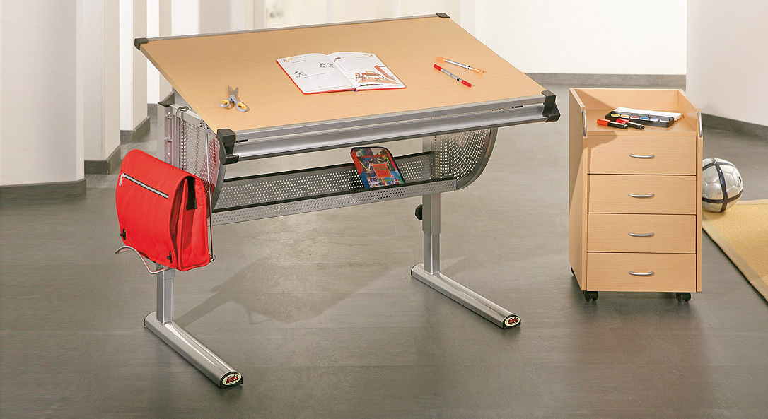 Schreibtisch Nico ist kippbar in Buchedekor