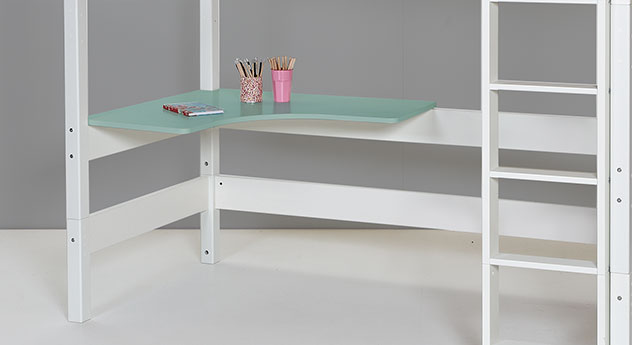 farbige schreibtischplatte f r ihr hochbett kids town. Black Bedroom Furniture Sets. Home Design Ideas