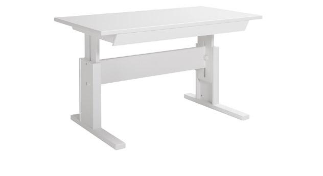 Lackierter Schreibtisch mit Schublade - Weiß