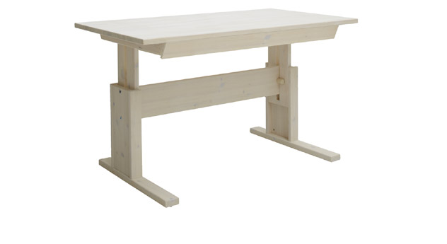 Weiß lasierter Schreibtisch mit Schublade