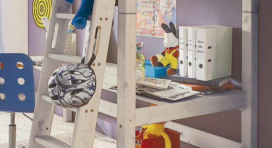 Schreibtischplatte Kids Paradise Kiefer Weiß