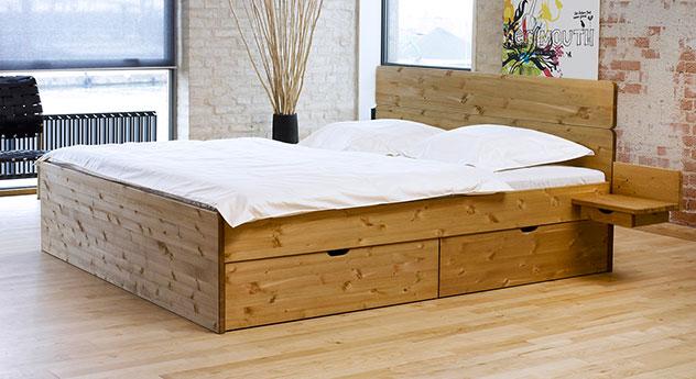 bett mit schubk sten in der gr e 180x200cm finnland. Black Bedroom Furniture Sets. Home Design Ideas