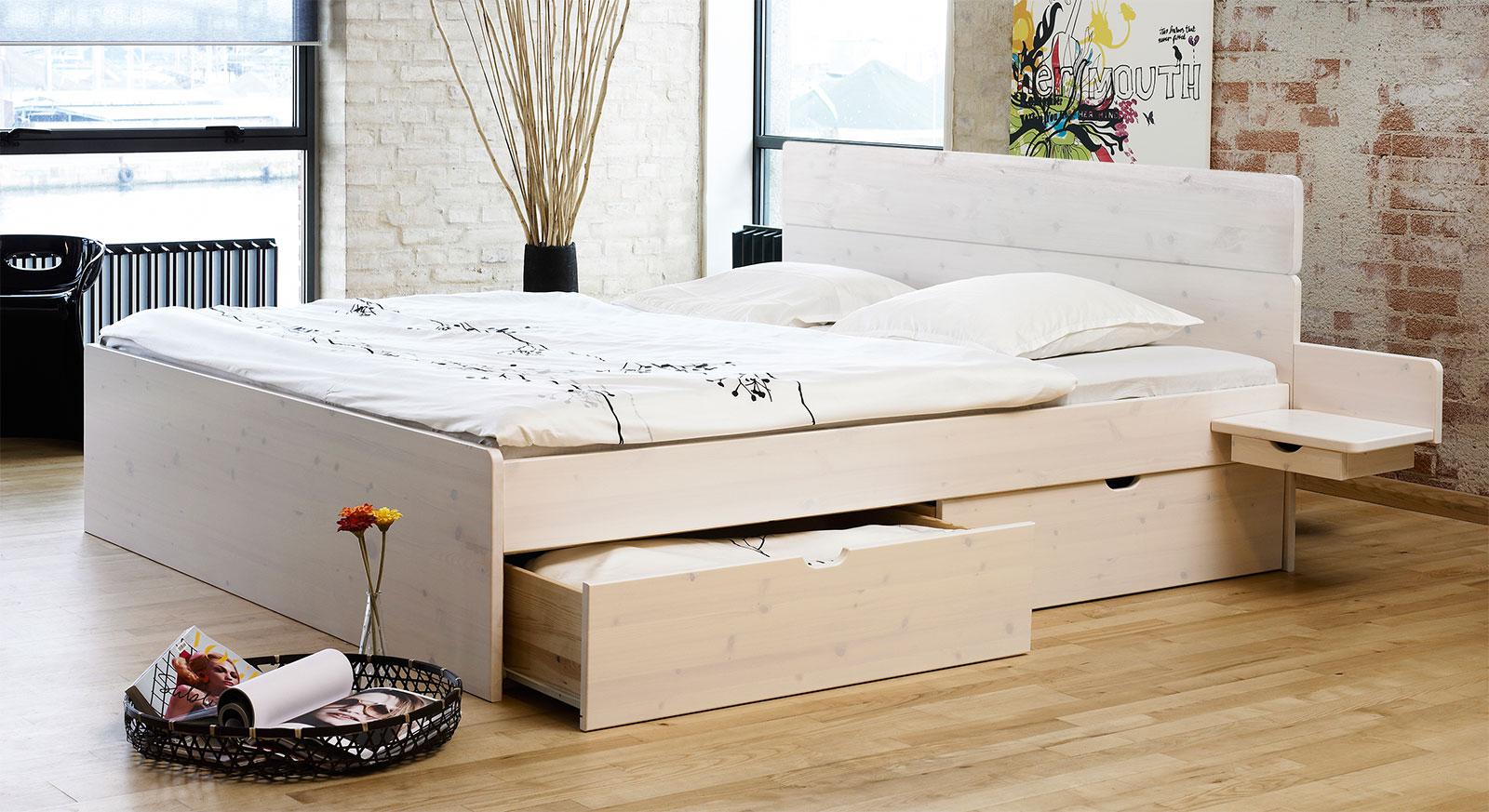 Schubkasten-Bett Finnland in weiß mit passenden Produkt