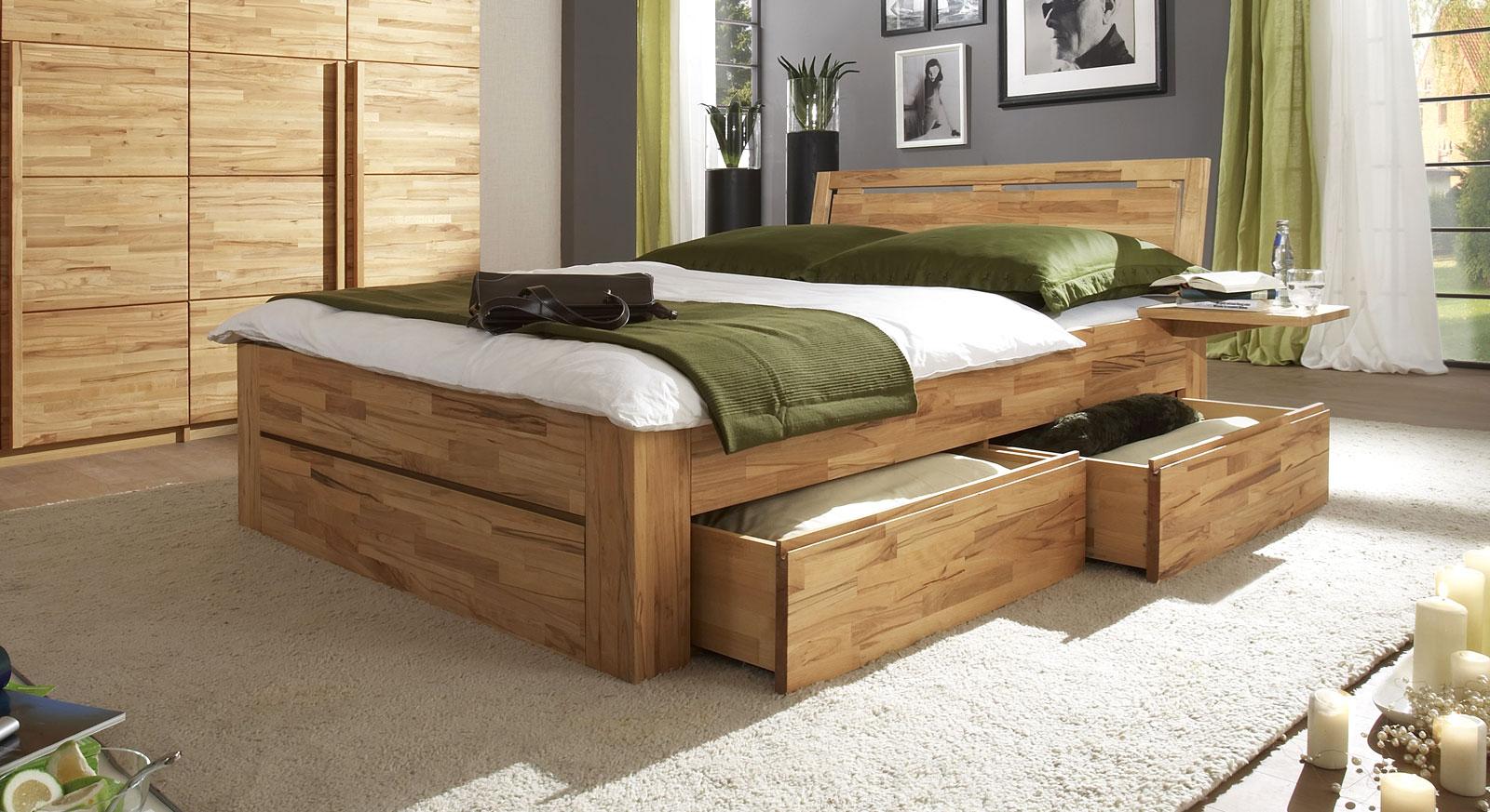 Schubkastenbett mit zusätzlichem Stauraum - Bett Andalucia